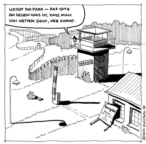 Comic: Grenzstreifen